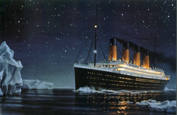 Titanic meets it's fate
