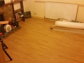 New floor taking shape.